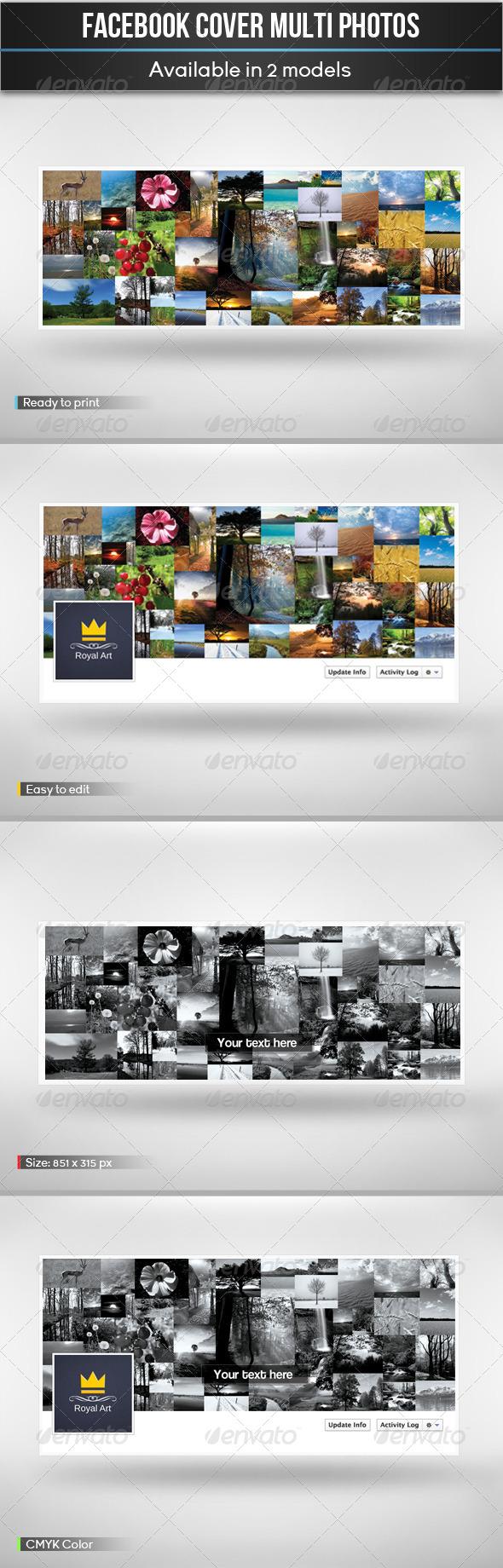 GraphicRiver Facebook Cover Multi Photos 5139602