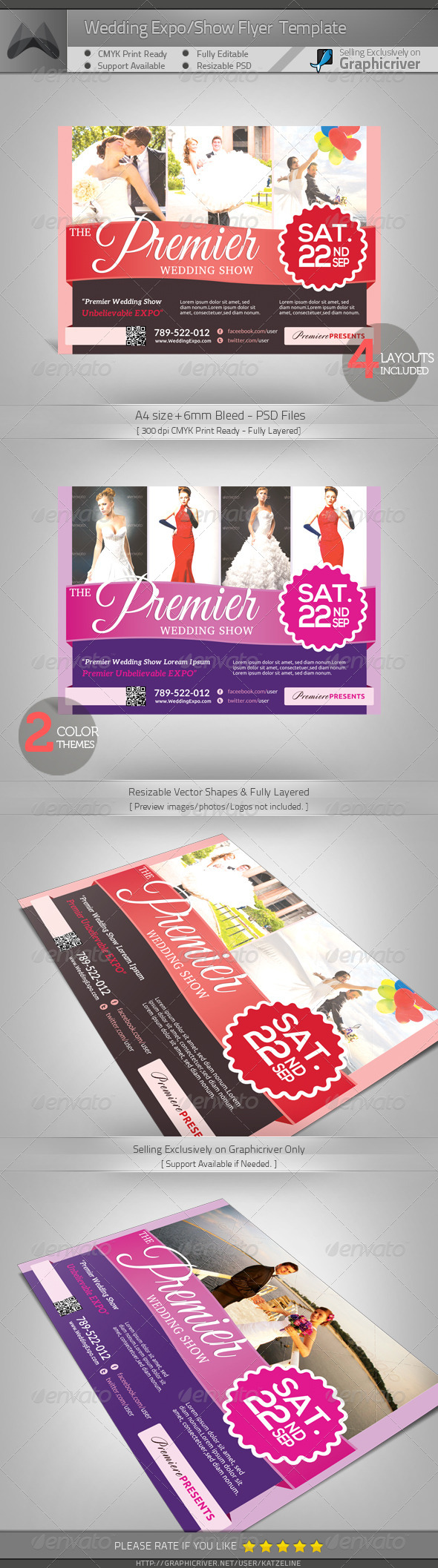 GraphicRiver Wedding Expo Show Flyer Template 5139932