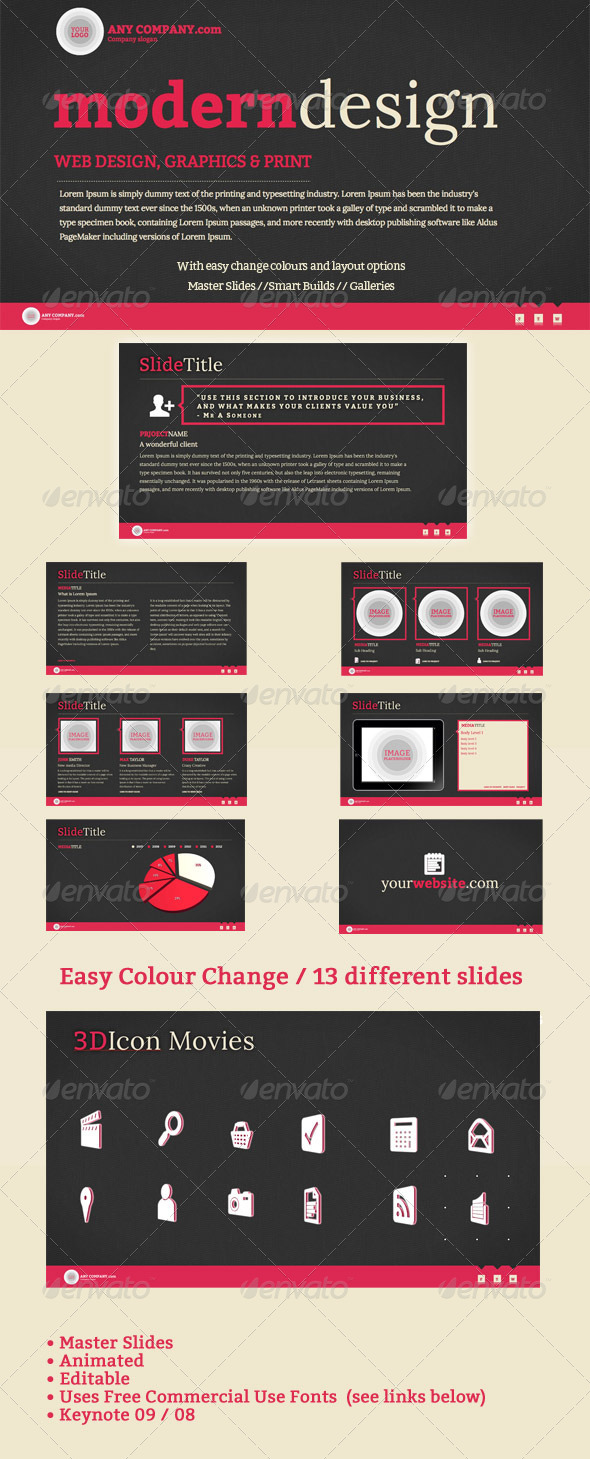 GraphicRiver Modern Design Keynote Template 5043038