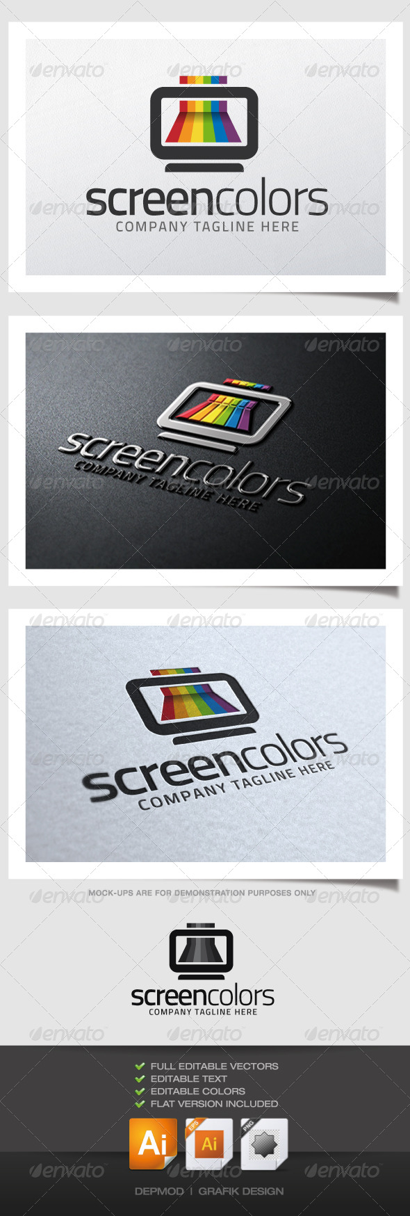 GraphicRiver Screen Colors Logo 5140967