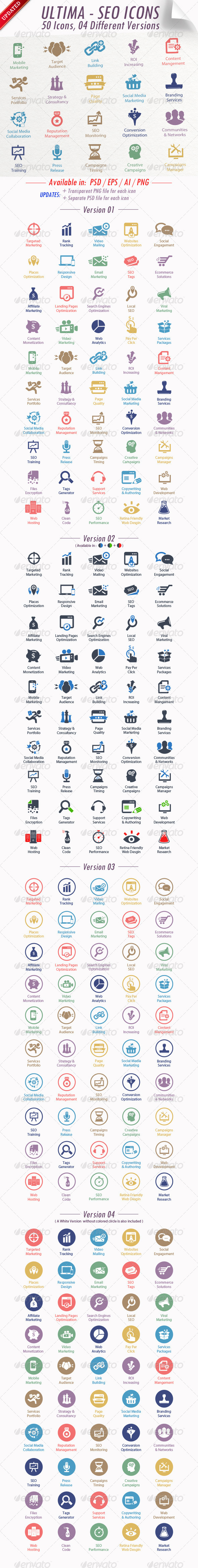 Ultima SEO Services Icons - Web Icons