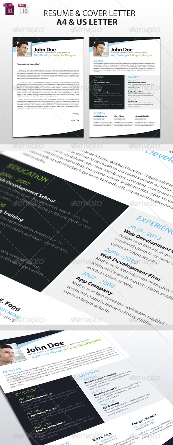 GraphicRiver Resume and Cover Letter 5141656