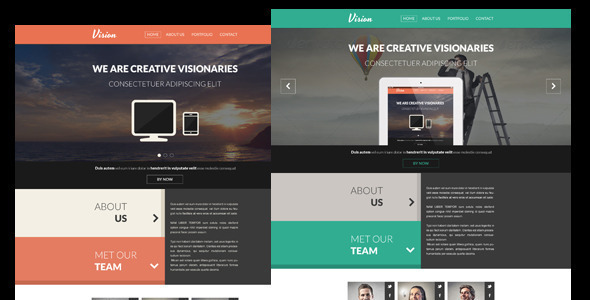 ThemeForest Vision One Page Flat Portfolio HTML Template 5141764