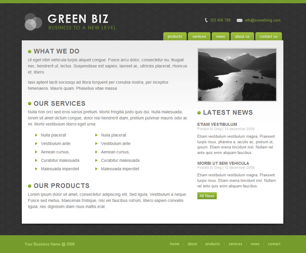 Green Biz - Business Template