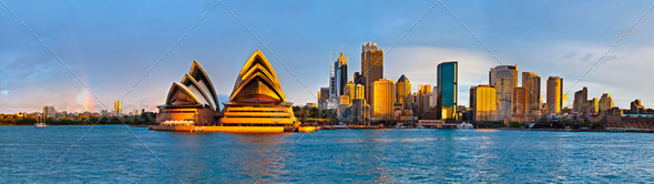 Sydney circular quay extra large panorama - Stock Photo - Images