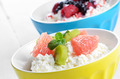 Cottage cheese with kiwi and grapefruit - PhotoDune Item for Sale