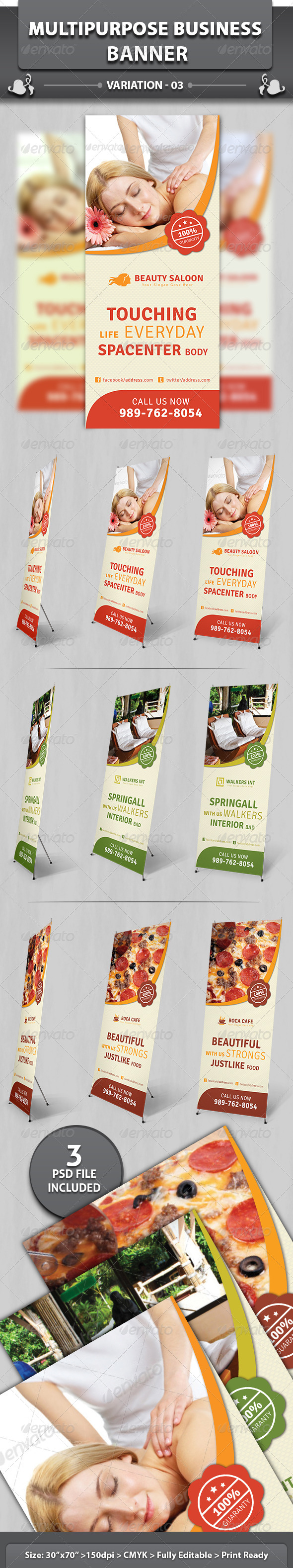 Multipurpose Business Banner | Volume 3 - Signage Print Templates