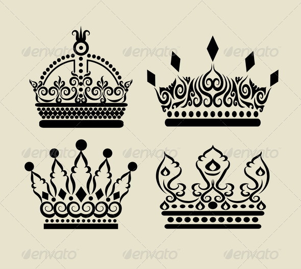 GraphicRiver Crown Decorations 5145107