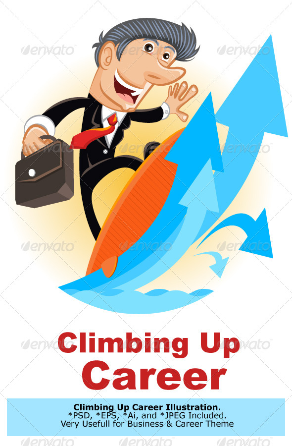 GraphicRiver Climbing Up Corporate Ladder 5145515
