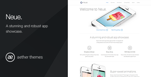 ThemeForest Neue App Landing Page 5142303
