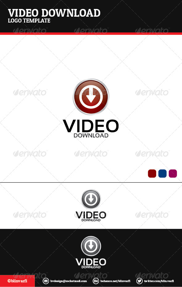 Video Downloader Logo Template - Symbols Logo Templates