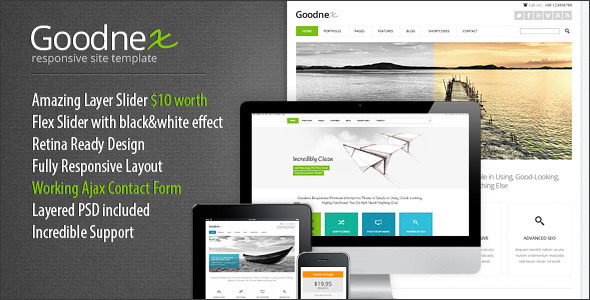 ThemeForest Goodnex Responsive HTML5 CSS3 Site Template 5147198
