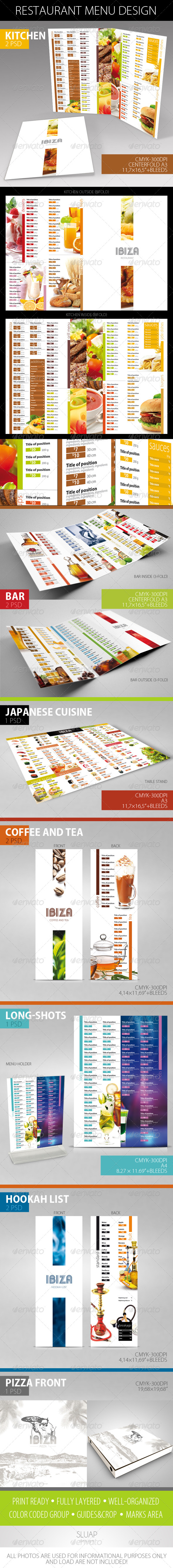 Restaurant Menu Design - Food Menus Print Templates