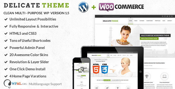 Delicate | Responsive Multi-Purpose Theme  - Corporate WordPress