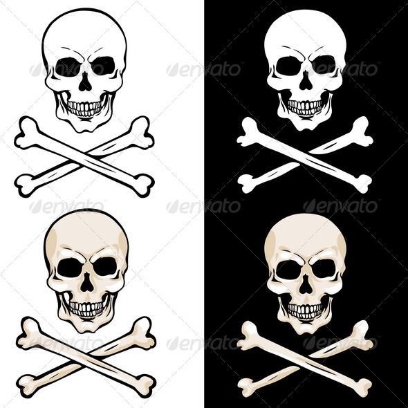 GraphicRiver Vector Skull and Crossbones 5147908