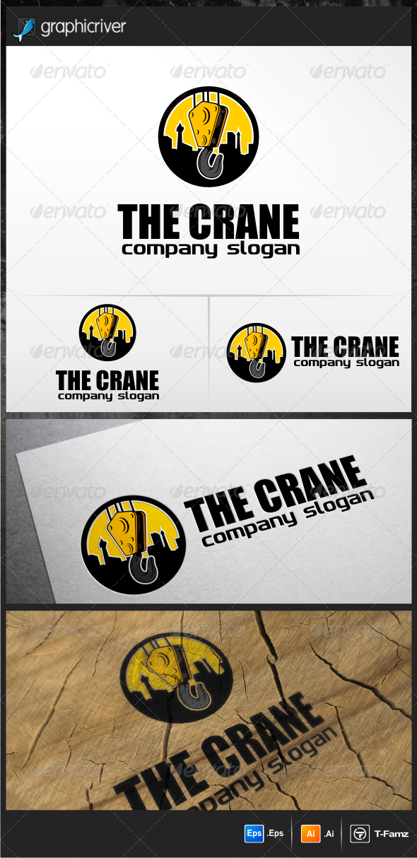 GraphicRiver Crane Logo Templates 5148804