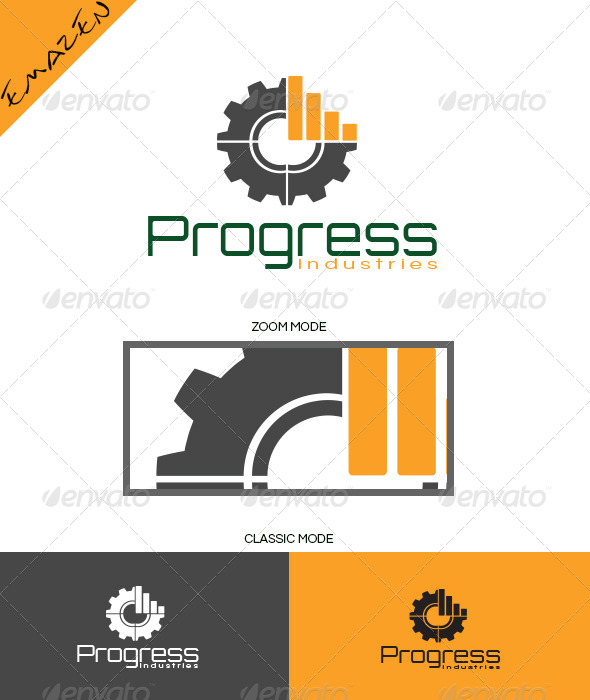 Progress Industries Logo  - Vector Abstract
