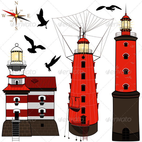 GraphicRiver Set of Lighthouses 5144972
