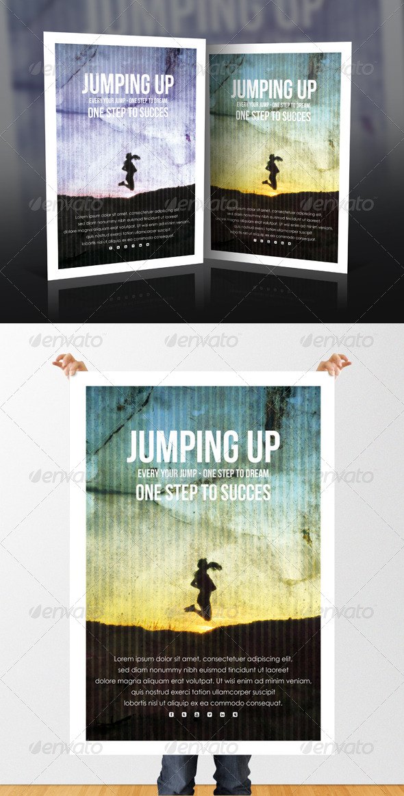 GraphicRiver Jumping Up Flyer 5149749
