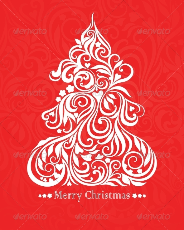 GraphicRiver Card with Christmas Tree 5149861