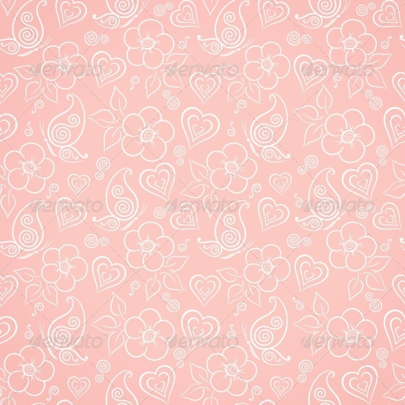 GraphicRiver Decorative Floral Seamless Pattern 5149865