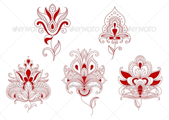GraphicRiver Abstract Curly Flowers 5150015