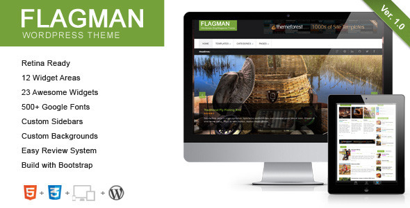 ThemeForest Flagman Retina Responsive News WordPress Theme 5150018