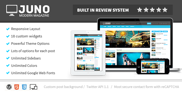 Juno Responsive WordPress Magazine Theme - Blog / Magazine WordPress