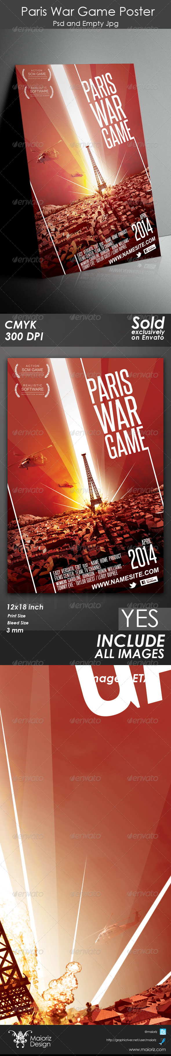 GraphicRiver Paris War Game Poster 5150139