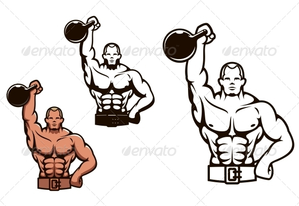 Bodybuilder Man with Dumbbell - Sports/Activity Conceptual