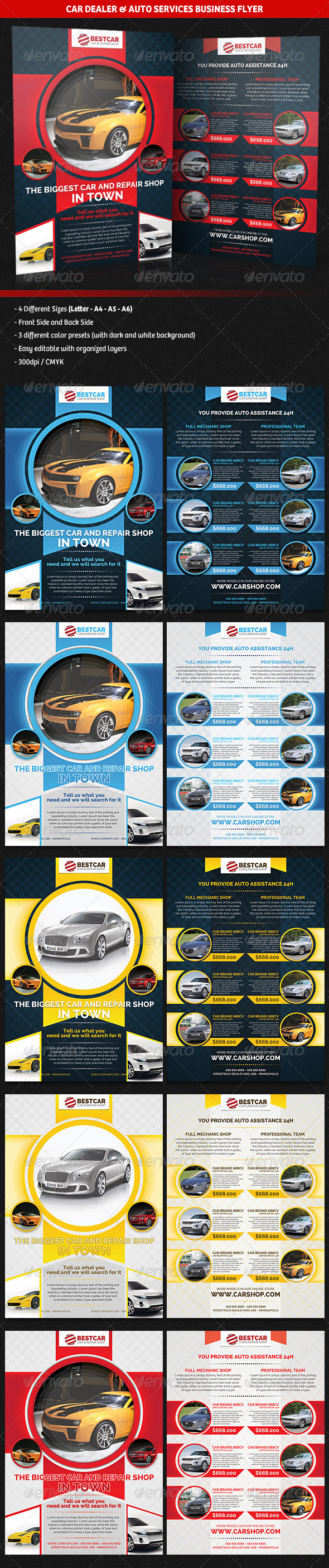 GraphicRiver Car Dealer & Auto Services Business Flyer 5150377