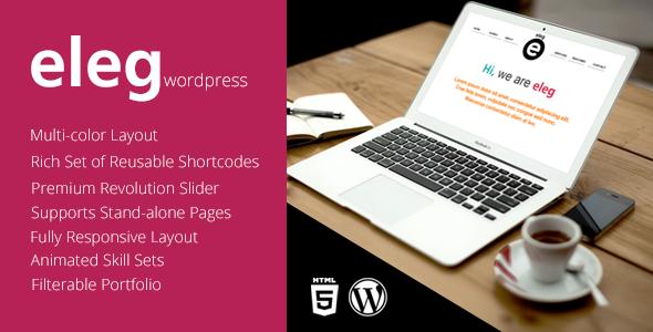 ThemeForest Eleg Multicolor One Page WordPress Theme 5146898