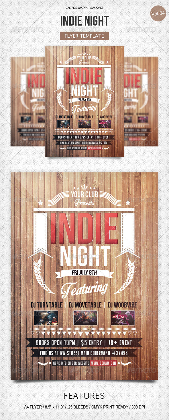 GraphicRiver Indie Night Flyer [Vol.4] 5150697
