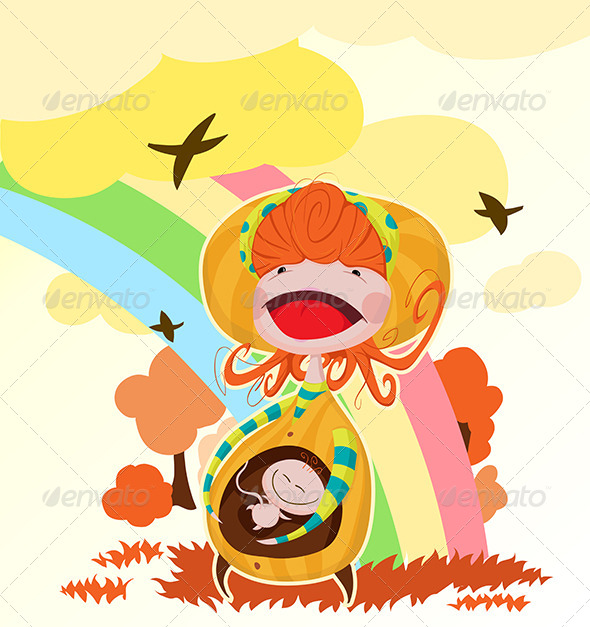 GraphicRiver Happy Mom in Nature 5144566