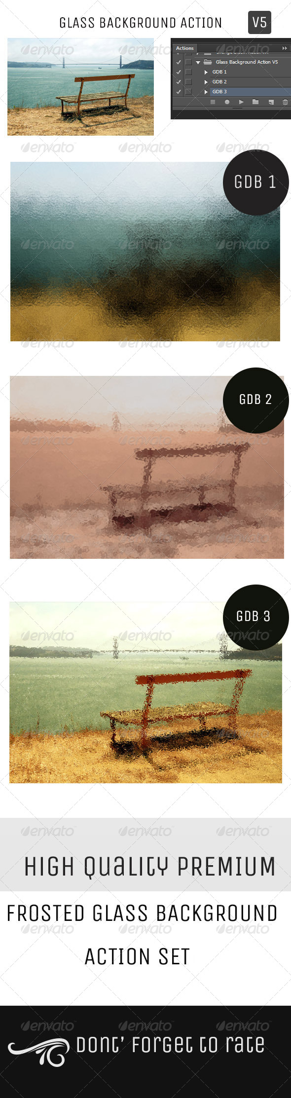 GraphicRiver Glass Background Action Set V5 5150978