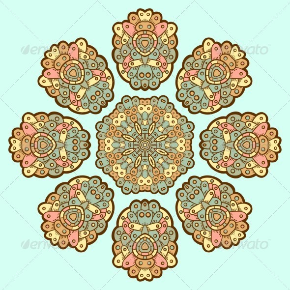 GraphicRiver Ornamental Lace Pattern Circle 5151190