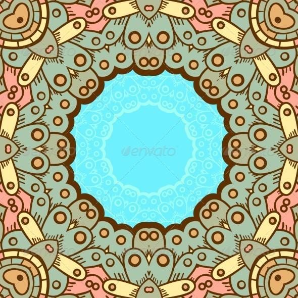 GraphicRiver Ornamental Lace Pattern Circle 5151196