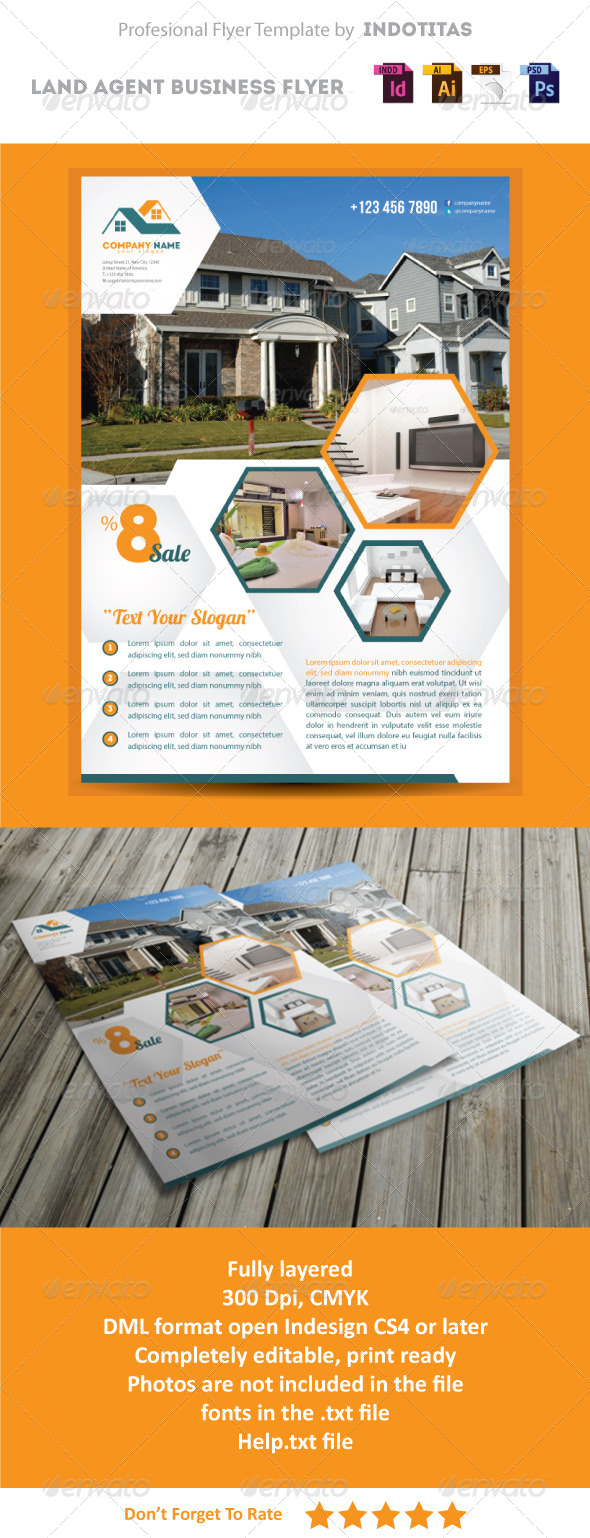 GraphicRiver Land Agent Business Flyer Template 5151216