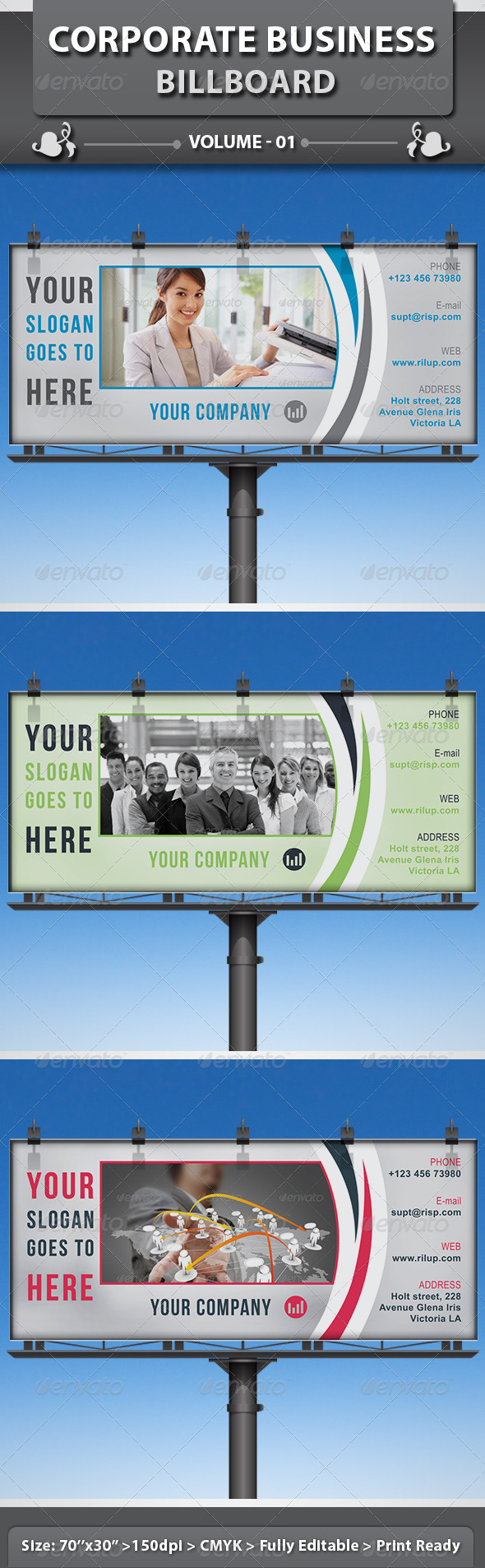 Corporate Business Billboard v1 - Signage Print Templates
