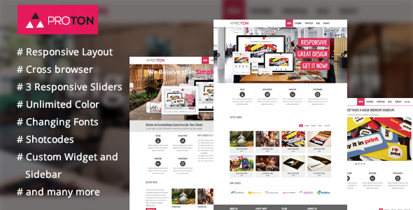 ThemeForest Proton Wordpress Theme for Corporate Business 5034493