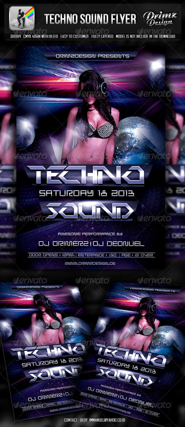 GraphicRiver Techno Sound Flyer 5152944