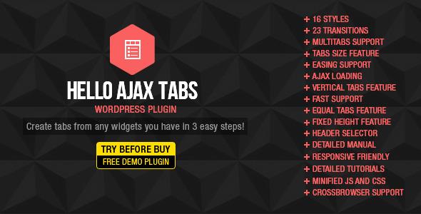 Hello Ajax Tabs v2.1.0 WordPress Widget | CodeCanyon
