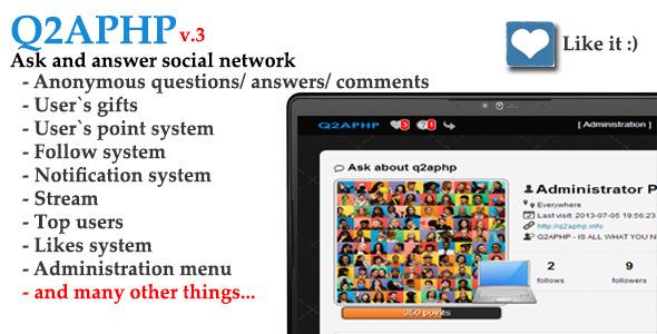 CodeCanyon Q2APHP q&a social network 5124191