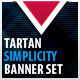 Tartan Simplicity Banner Set - GraphicRiver Item for Sale