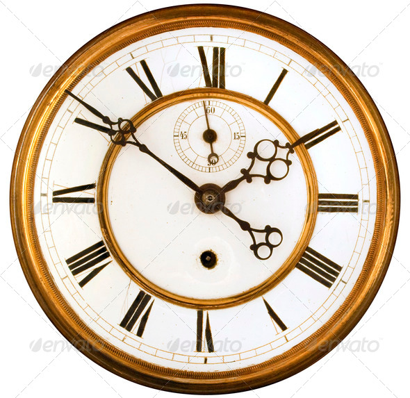 Old Clock Gears : Antique clock face isolated stock photo by h oone photodune