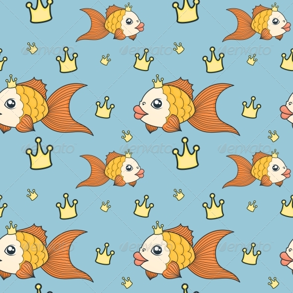 GraphicRiver Goldfish Pattern 5156447