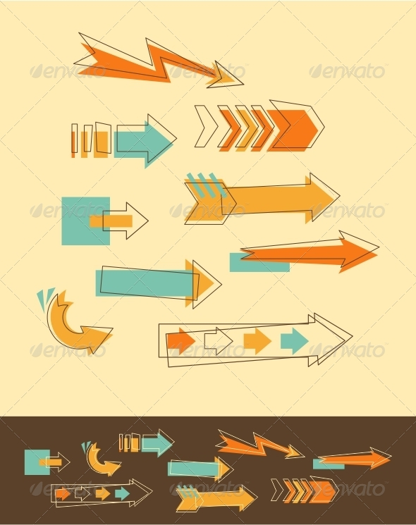 GraphicRiver Set Doodle Arrows 5157731