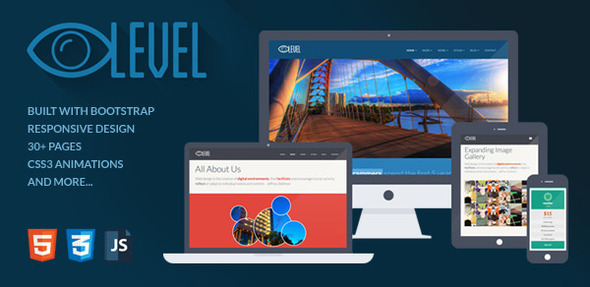 ThemeForest iLevel Responsive Flat Design Bootstrap Template 5159974