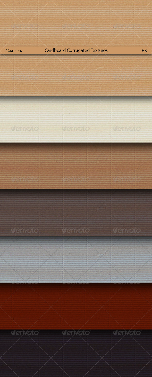GraphicRiver Cardboard Corrugated Textures 5160240