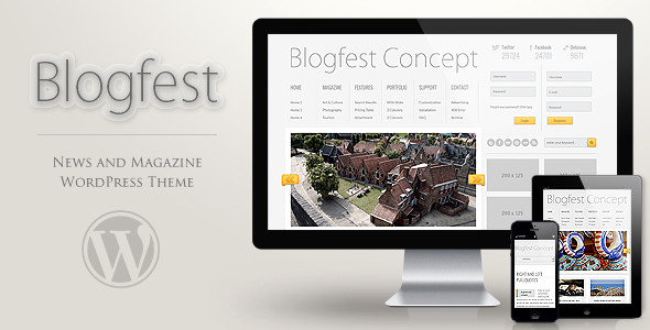 Blogfest WordPress Magazine News and Blog Theme - theme preview